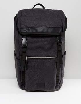 Asos Hiker Backpack In Charcoal Melton