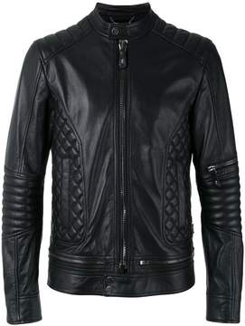 Philipp Plein quilted panel biker jacket