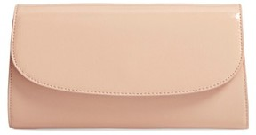 Nordstrom Leather Clutch - Beige