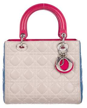 Christian Dior Tricolor Medium Lady Bag