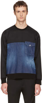 DSQUARED2 Blue Denim Sweatshirt