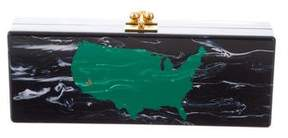 Edie Parker United States Map Jean Clutch