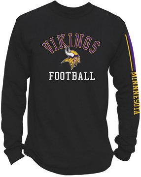 Authentic Nfl Apparel Men's Minnesota Vikings Spread Formation Long Sleeve T-Shirt