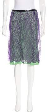 Alessandro Dell'Acqua Lace Knee-Length Skirt