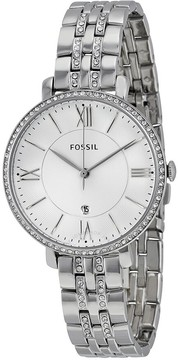 Fossil Jacqueline Silver Dial Stainless Steel Ladies Watch