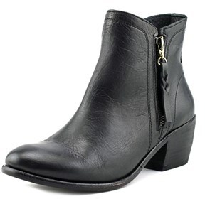 Wolverine Ella Round Toe Leather Bootie.