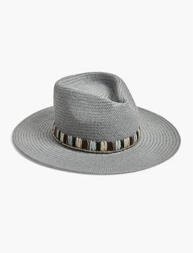 Lucky Brand EMBROIDERED STRAW HAT