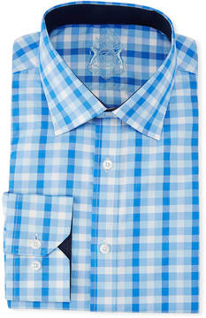English Laundry Classic-Fit Gingham Dress Shirt, Blue