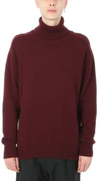 Laneus Wool Bordeaux Turtleneck Sweater