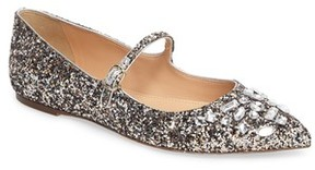 J.Crew Women's Glitter Mary Jane Flat