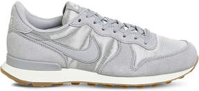Nike Internationalist suede and satin trainers