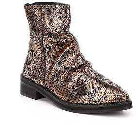 Free People Amarone Snake Leather Print Block Heel Ankle Boots