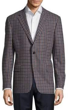Hickey Freeman Wool Button-Front Blazer