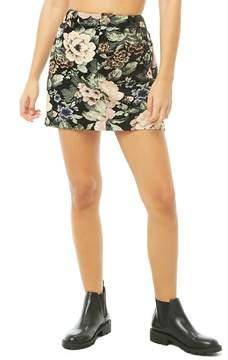 Forever 21 Floral Jacquard Mini Skirt