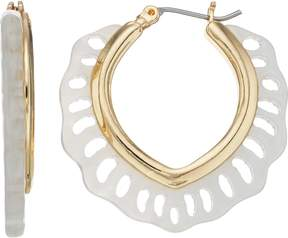 Dana Buchman Gold Plated Cutout Hoop Earrings