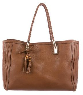Gucci Leather Bella Tote - BROWN - STYLE