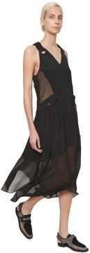 Damir Doma Techno Satin & Georgette Dress