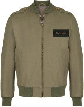 Kent & Curwen cropped logo bomber jacket
