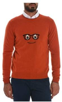Altea Men's Orange Wool Sweater.