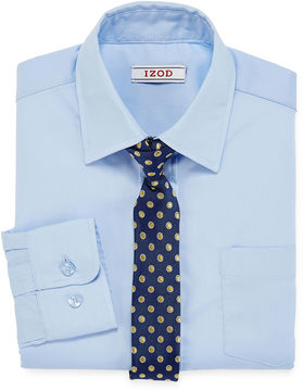 Izod Dress Shirt and Clip-On Tie Set - Boys 8-20