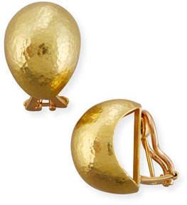 Elizabeth Locke Hammered 19K Gold Shrimp Earrings