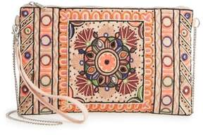 Sole Society Embroidered Zip Clutch