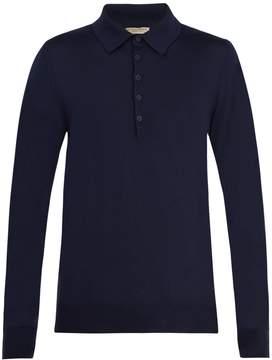 Bottega Veneta Elbow-patch wool polo shirt