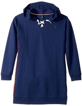 Tommy Hilfiger Lace-Up Sweatshirt Dress Girl's Dress