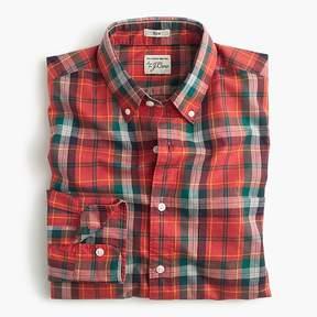 J.Crew Slim Secret Wash shirt in heather poplin red plaid