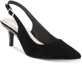 Alfani Women's Step 'N Flex Babbsy Pointed-Toe Slingback Pumps, Created for Macy's Women's Shoes