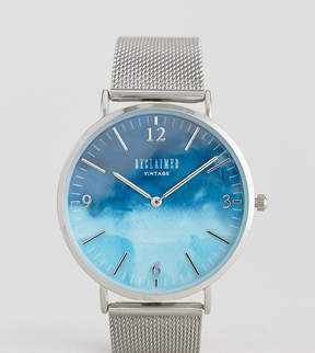 Reclaimed Vintage Inspired Sky Mesh Watch In Silver Exclusive To ASOS