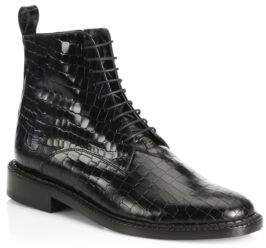 Robert Clergerie Jacen Leather Combat Boots