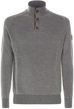 La Martina Half Button Neck Sweater