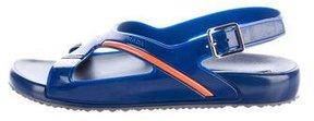 Prada Rubber Strap Sandals w/ Tags