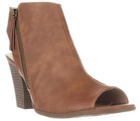Esprit Belize Peep Toe Dress Mules, Cognac.
