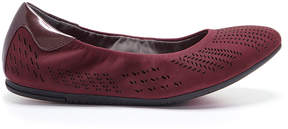 Foot Petals Merlot Cami Nubuck Leather Flat - Women