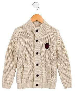 Little Marc Jacobs Girls' Cable Knit Mock Neck Cardigan