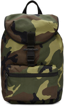 Givenchy Green Camo Obsedia Light Backpack