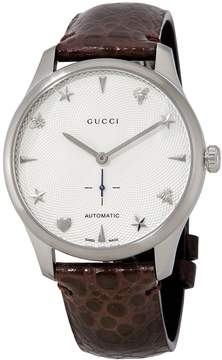 Gucci G-Timeless Automatic Silver Dial Men's Watch