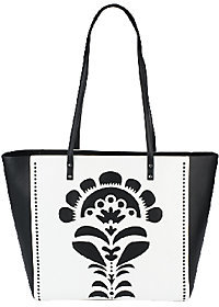 Vera Bradley As Is Faux Leather Laser-Cut Tote - ONE COLOR - STYLE