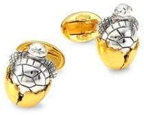 Jan Leslie Sterling Silver Hatching Turtle Cufflinks