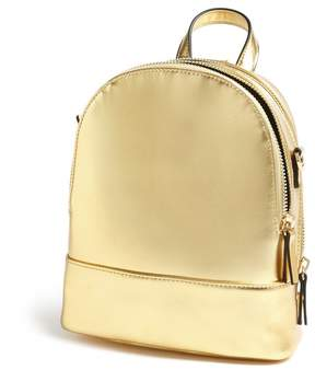 Forever 21 Faux Leather Mini Metallic Backpack