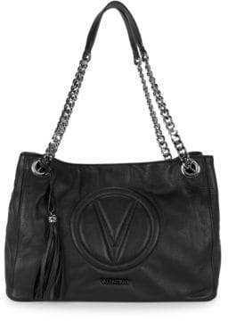 Mario Valentino Versa Chain Leather Shoulder Bag
