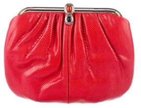 Judith Leiber Karung Pleated Evening Bag