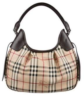 Burberry Haymarket Check Hobo