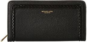 Michael Kors Skorpios Zip Around Continental Clutch Handbags - BLACK - STYLE