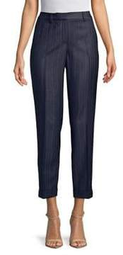 T Tahari Ashley Cropped Pinstripe Pants