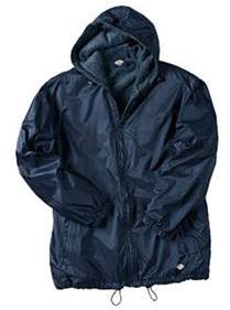 Dickies Men's Fleece Lined Hooded Nylon Jacket.