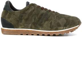 Alberto Fasciani camouflage panelled sneakers