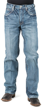 Stetson Blue V-Stitched Deco Pocket Straight-Leg Jeans - Men's Regular